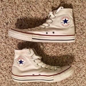 Converse All Star White High Tops Sz 9 women/7 men